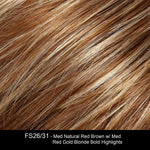 FS26/31 | Medium Red-Gold Brown and Light Gold Blonde Blend with Light Gold Blonde Bold Highlights