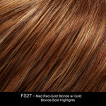 FS27 Strawberry Syrup | Golden Red w/ Strawberry Blonde & Honey Blonde Highlights