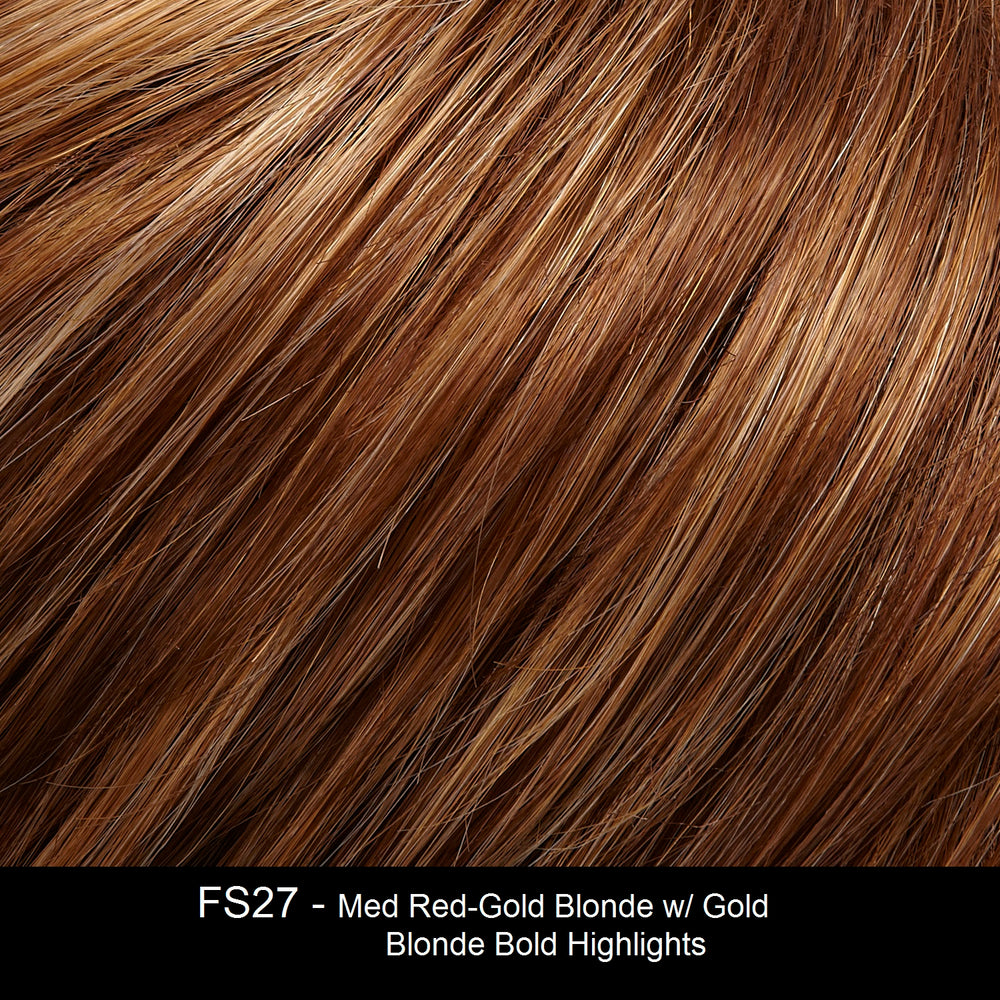 FS27 | Medium Red-Gold Brown and Light Red-Gold Blonde Blend with Light Red-Gold Blonde Bold Highlights