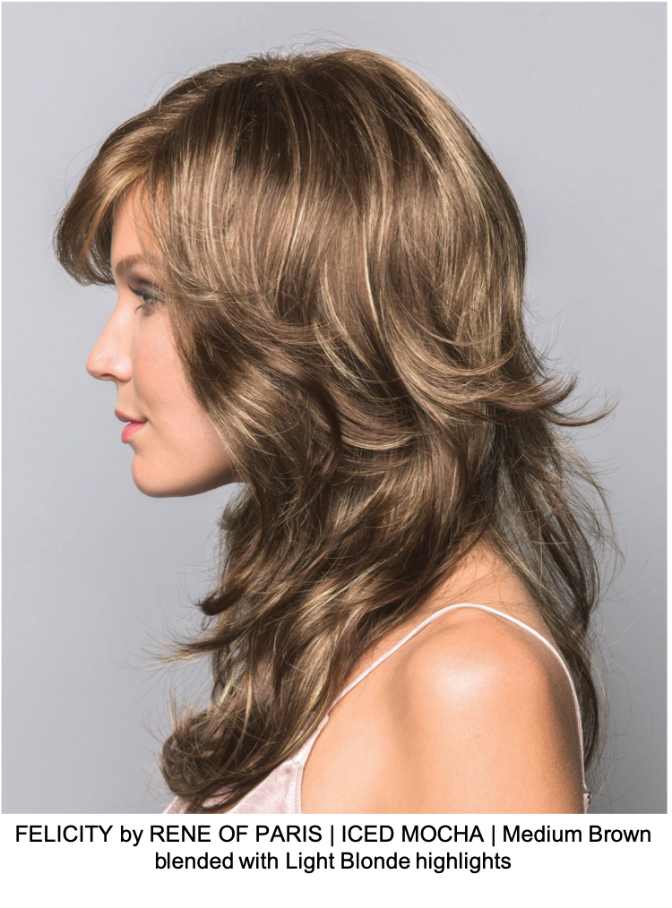 FELICITY by RENE OF PARIS | ICED MOCHA | Medium Brown blended with Light Blonde highlights