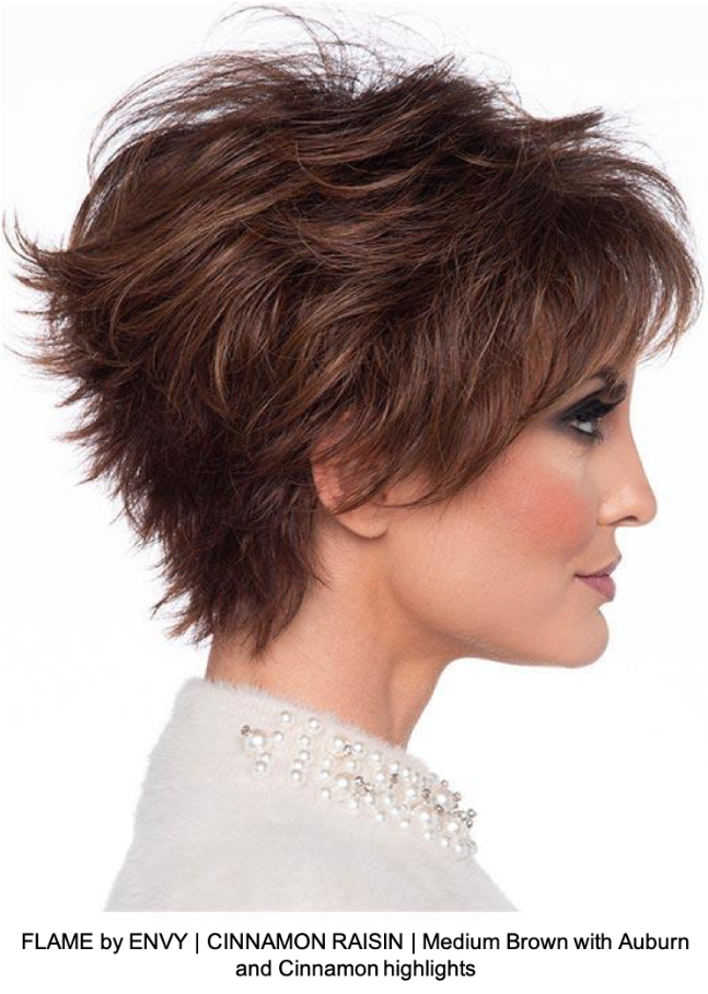 FLAME by ENVY | CINNAMON RAISIN | Medium Brown with Auburn and Cinnamon highlights