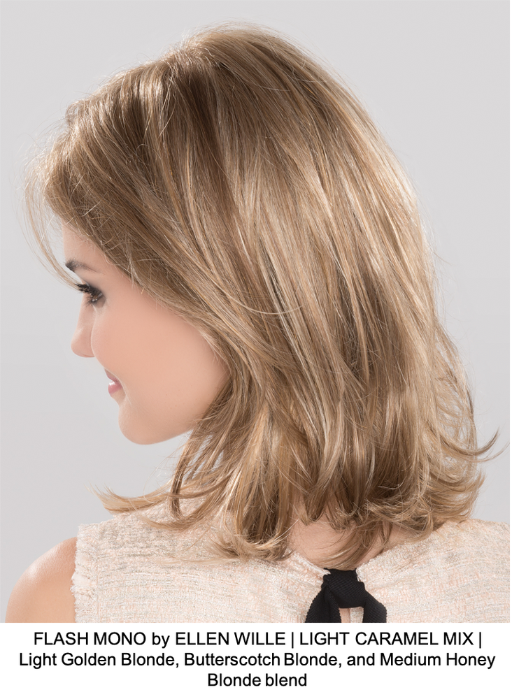 FLASH MONO by ELLEN WILLE | LIGHT CARAMEL MIX | Light Golden Blonde, Butterscotch Blonde, and Medium Honey Blonde blend