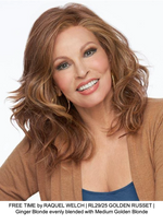 FREE TIME by RAQUEL WELCH | RL29/25 GOLDEN RUSSET | Ginger Blonde evenly blended with Medium Golden Blonde