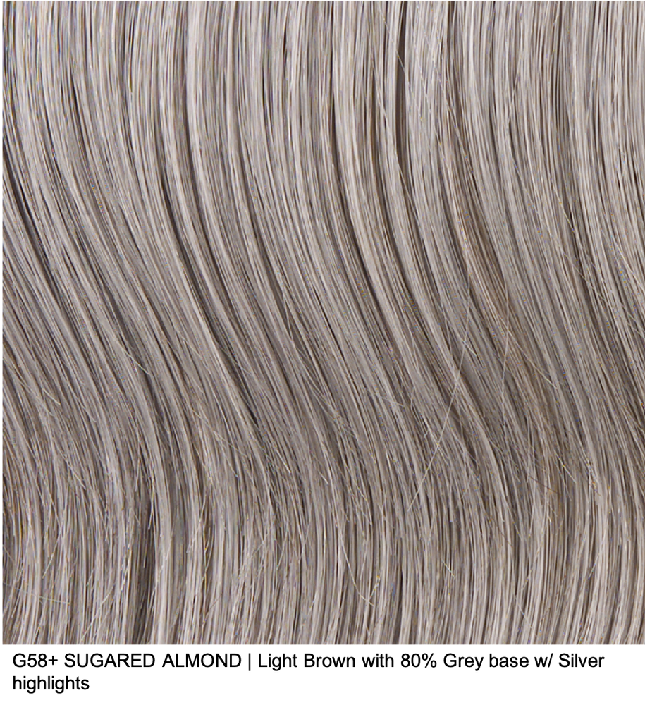 G58+ SUGARED ALMOND | Light Brown with 80% Grey base w/ Silver highlights
