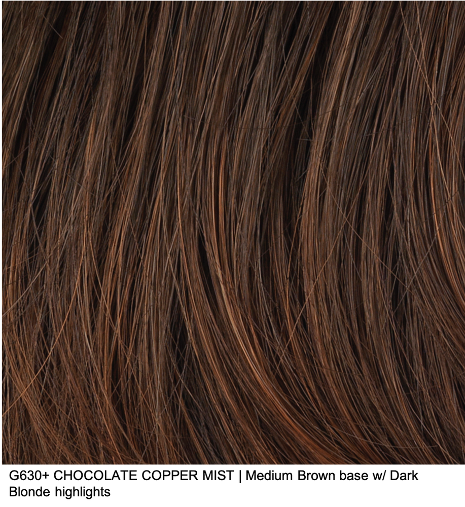 G630+ CHOCOLATE COPPER MIST | Medium Brown base w/ Dark Blonde highlights