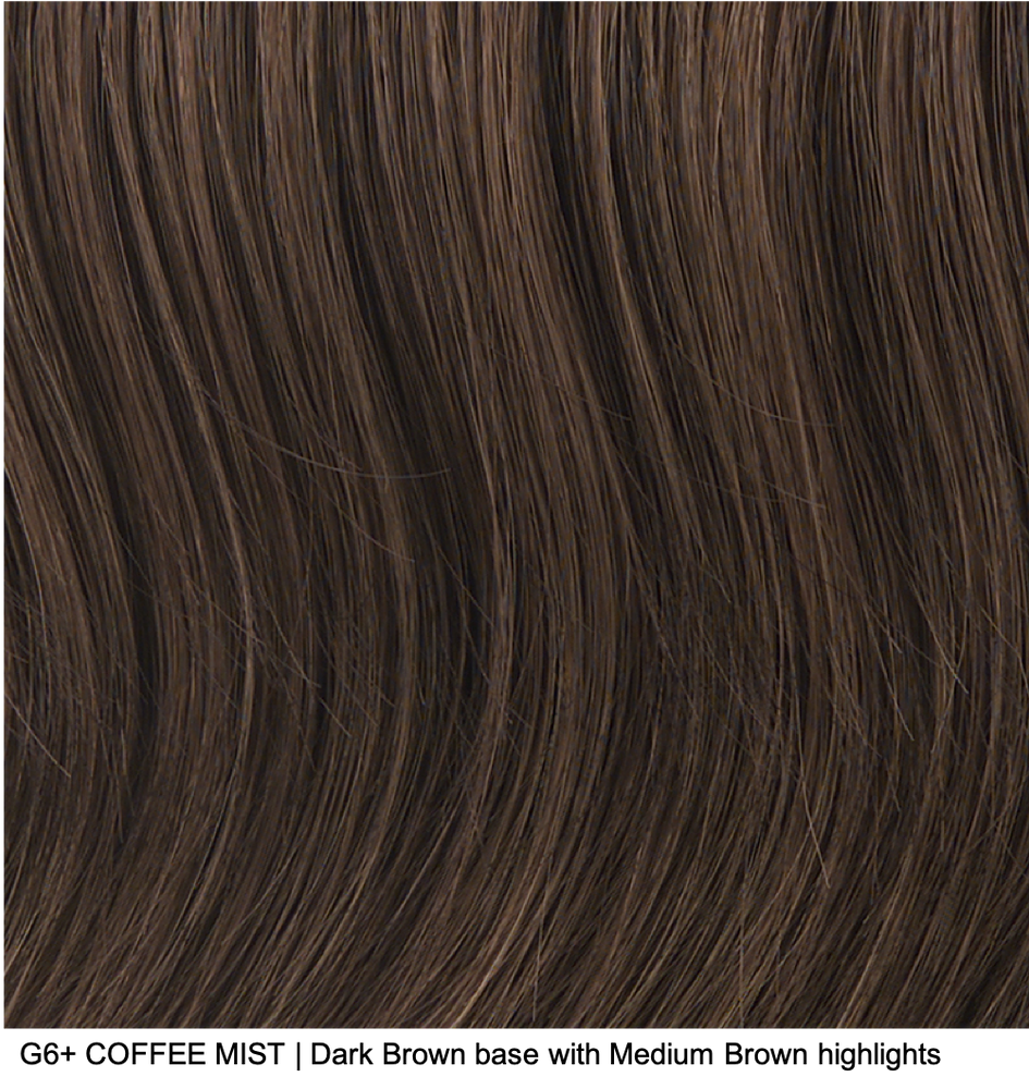G6+ COFFEE MIST | Dark Brown base with Medium Brown highlights