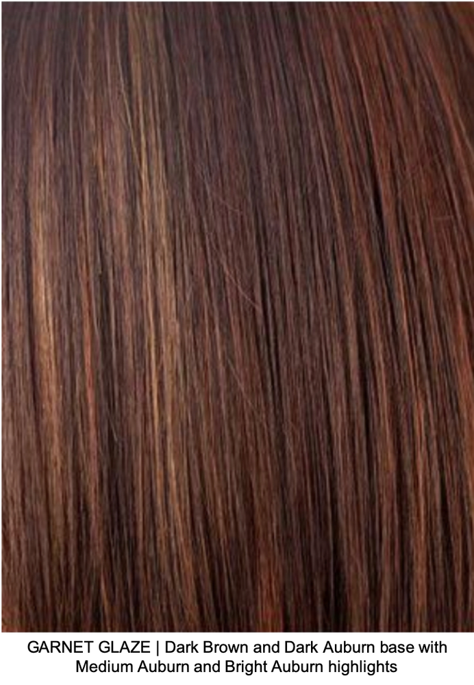 GARNET GLAZE | Dark Brown and Dark Auburn base with Medium Auburn and Bright Auburn highlights