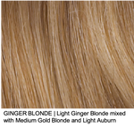 GINGER BLONDE | Light Ginger Blonde mixed with Medium Gold Blonde and Light Auburn