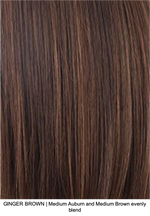 GINGER BROWN | Medium Auburn and Medium Brown evenly blend