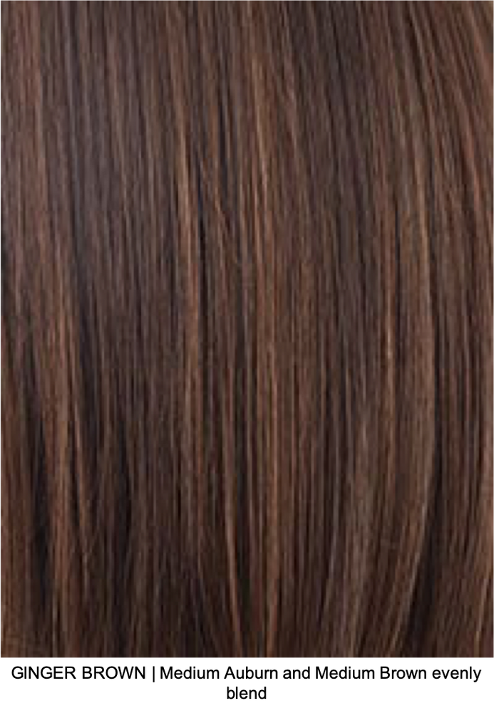 GINGER BROWN | Medium Auburn and Medium Brown evenly blended