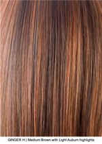 GINGER H | Medium Brown with Light Auburn highlights