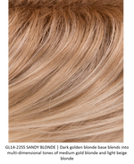 GL14-22SS SS SANDY BLONDE | Dark golden blonde base blends into multi-dimensional tones of medium gold blonde and light beige blonde