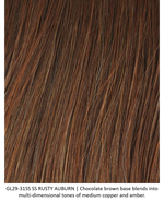 GL29-31SS SS RUSTY AUBURN | Chocolate brown base blends into multi-dimensional tones of medium copper and amber.