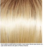 GL613-88SS CHAMPAGNE BLONDE | Dark Golden Blonde base blends into Light Golden Blonde with glints of Platinum Blonde