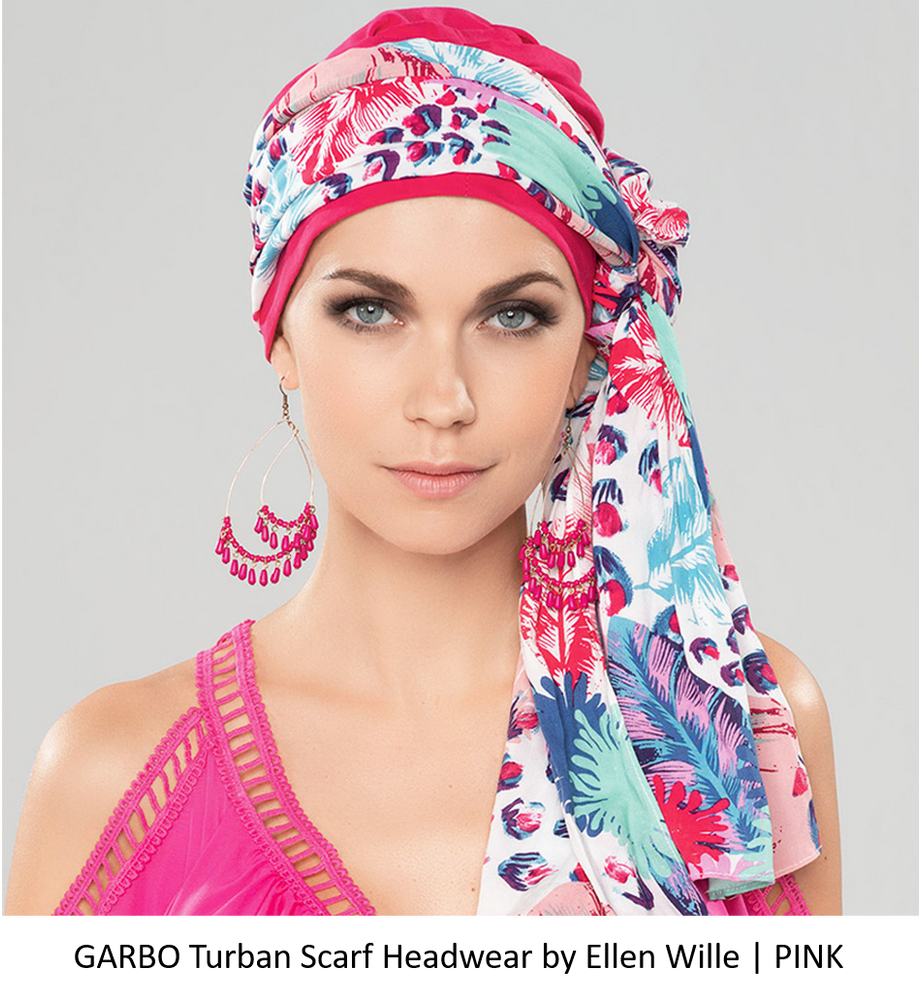 Garbo Turban Scarf by Ellen Wille | Pink