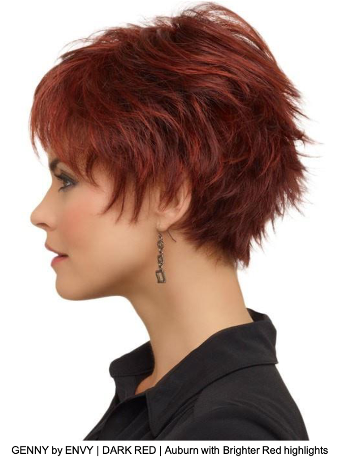 GENNY by ENVY | DARK RED | Auburn with Brighter Red highlights