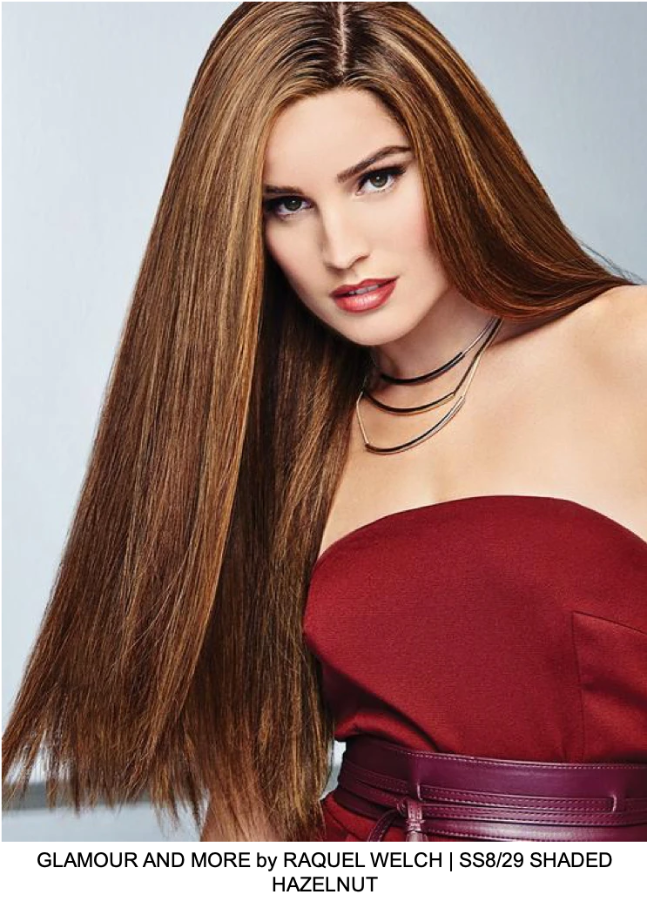 Glamour and More Remy Human Hair Lace Front Wig (Hand-Tied)