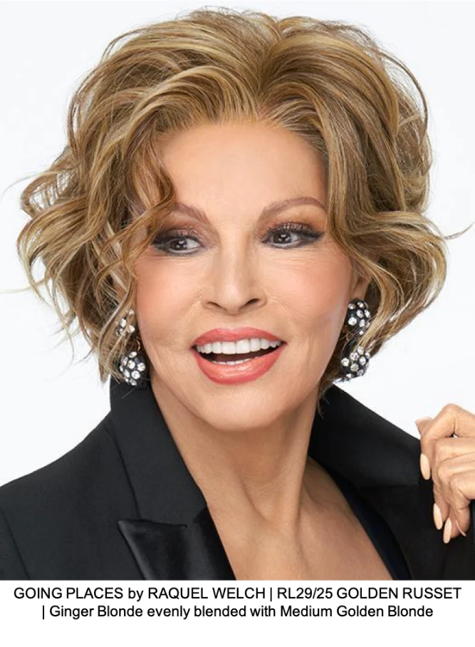 GOING PLACES by RAQUEL WELCH | RL29/25 GOLDEN RUSSET | Ginger Blonde evenly blended with Medium Golden Blonde