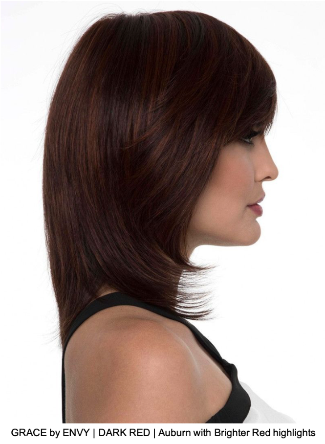 GRACE by ENVY | DARK RED | Auburn with Brighter Red highlights