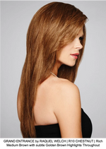 GRAND ENTRANCE by RAQUEL WELCH | R10 CHESTNUT | Rich Medium Brown with subtle Golden Brown Highlights Throughout