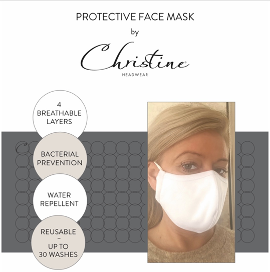 Christine Headwear Protective Face Masks, Gray