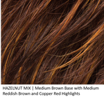 HAZELNUT MIX | Medium Brown base with Medium Reddish Brown and Copper Red highlights and Dark Roots