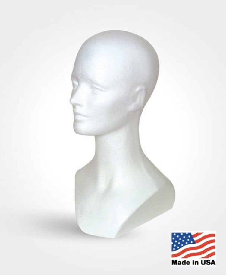 Large Base Styrofoam Mannequin Head