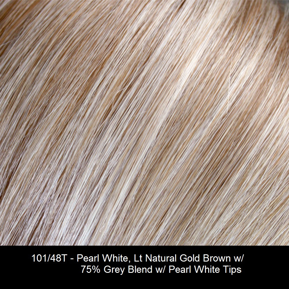 101/48T - Pearl White, Lt Natural Gold Brown w/ 75% Grey Blend w/ Pearl White Tips