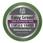 "Easy Green Hair Extension Tape 1/4"" x 6 Yd"