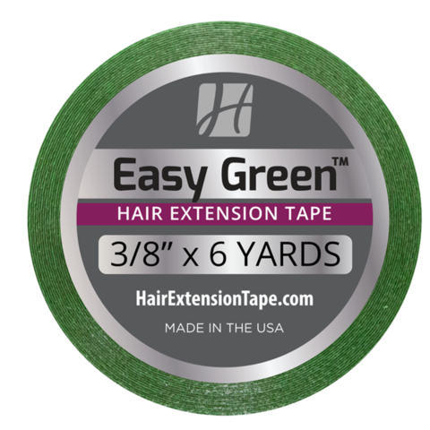 "Easy Green Hair Extension Tape 3/8"" x 6 Yd"