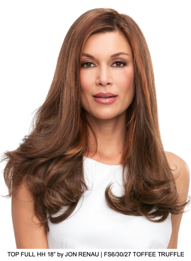 "Top Full HH 18"" Remy Human Hair Topper (Hand-Tied)"
