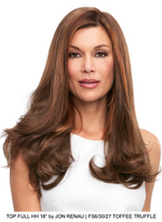 "Top Full HH 18"" Remy Human Hair Exclusive Topper (Hand-Tied)"