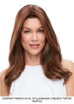 "easiPart French HH XL 18"" Remy Human Hair Topper (HT)"