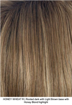 HONEY WHEAT R | Rooted dark with Light Brown base with Honey Blonde highlight