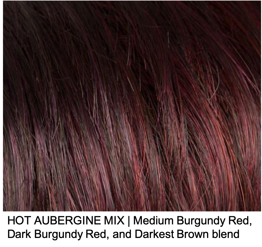 HOT AUBERGINE MIX | Medium Burgundy Red, Dark Burgundy Red, and Darkest Brown Blend