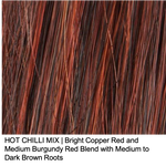 HOT CHILI MIX | Bright Copper Red and Medium Burgundy Red Blend with Medium to Dark Brown Roots