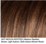 HOT MOCCA ROOTED | Medium Reddish Brown, Light Auburn, Dark Auburn Brown Roots