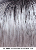 ILLUMINA R | Dark Brownish Purple rooted with Silver
