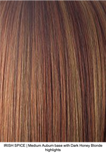 IRISH SPICE | Medium Auburn base with Dark Honey Blonde highlights