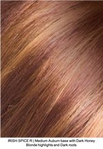 IRISH SPICE R | Medium Auburn base with Dark Honey Blonde highlights and Dark roots