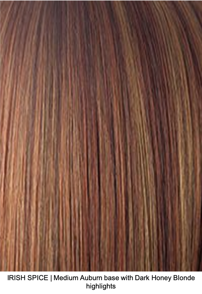 IRISH SPICE | Medium Auburn base and Dark Honey Blonde highlights