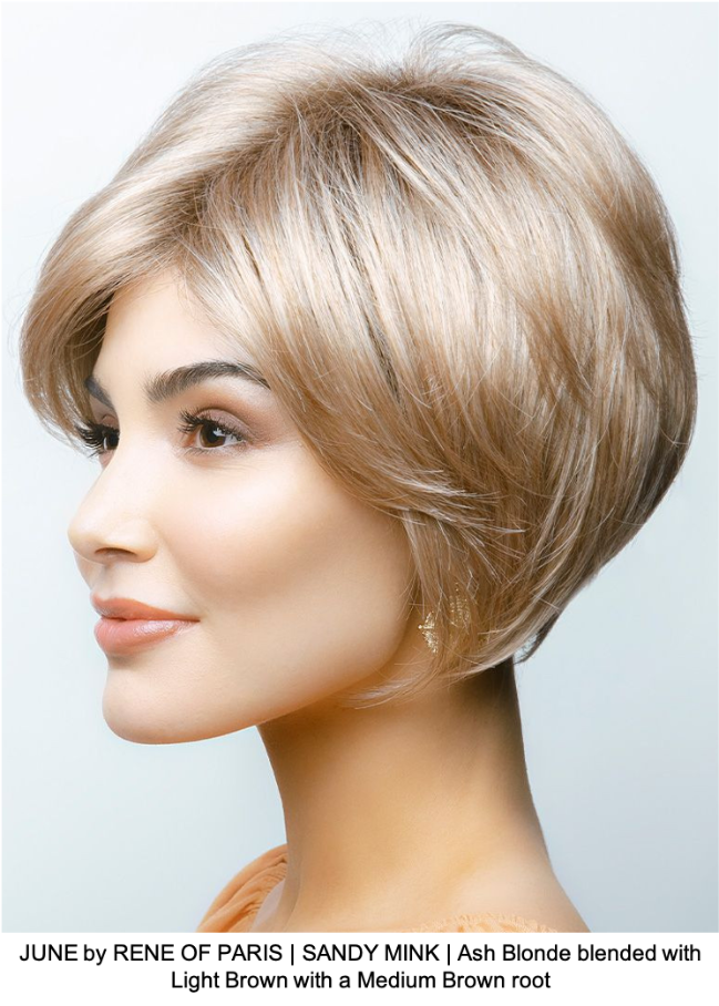 JUNE by RENE OF PARIS | SANDY MINK | Ash Blonde blended with Light Brown with a Medium Brown root
