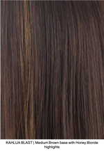 KAHLUA BLAST | Medium Brown base with Honey Blonde highlights