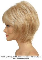 KELLIE by ENVY | LIGHT BLONDE | 2 toned blend of Creamy Blonde with Champagne highlights