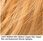 LIGHT MANGO MIX | Medium Copper Red, Copper Red, and Butterscotch Blonde highlights