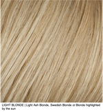 LIGHT BLONDE | Light Ash Blonde, Swedish Blonde or Blonde highlights by the sun