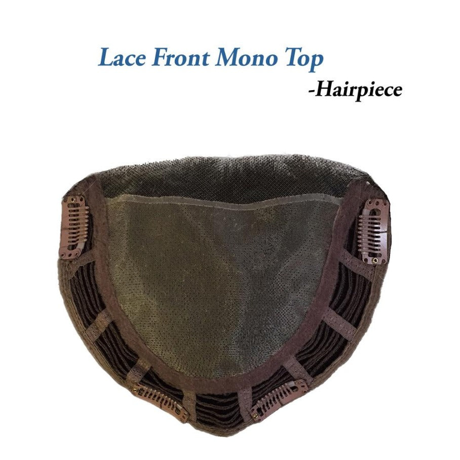 "LACE FRONT MONO TOP 14"" STRAIGHT HAIRPIECE by BELLE TRESS 