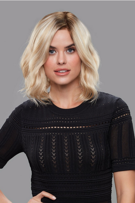 Lucy Synthetic Lace Front Single Mono Hand-Tied Wig