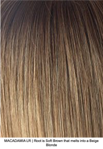 MACADAMIA LR | Root is Soft Brown that melts into a Beige Blonde