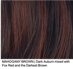 MAHOGANY BROWN | Dark Auburn mixed with Fox Red and the Darkest Brown